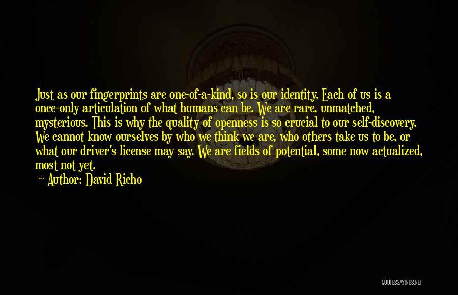 Fingerprints Quotes By David Richo
