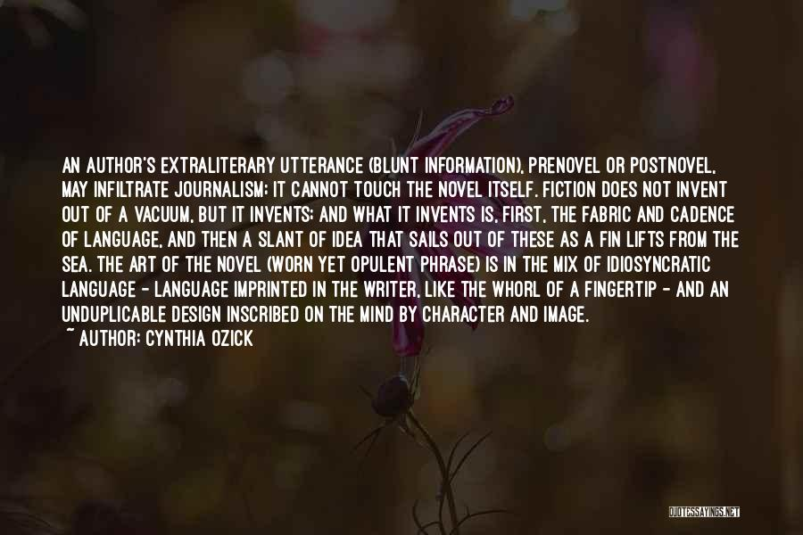 Fingertip Quotes By Cynthia Ozick
