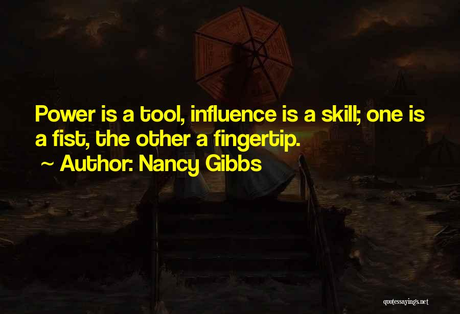 Fingertip Quotes By Nancy Gibbs
