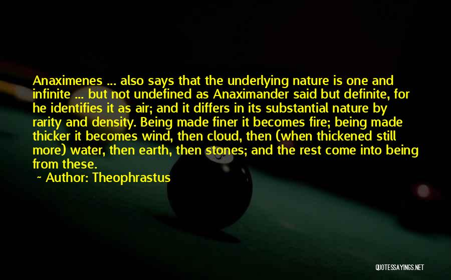 Fire And Water Quotes By Theophrastus