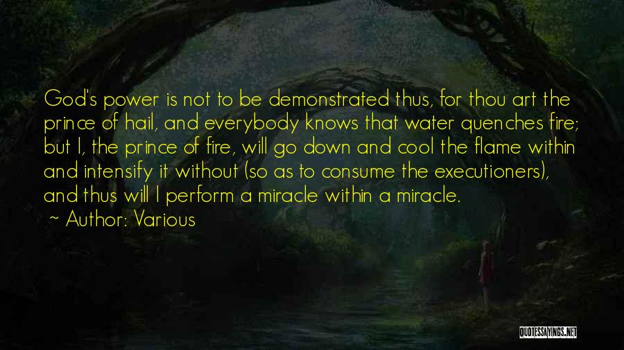 Fire And Water Quotes By Various