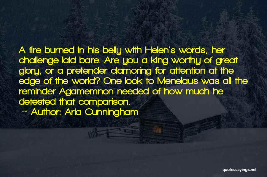 Fire In My Belly Quotes By Aria Cunningham