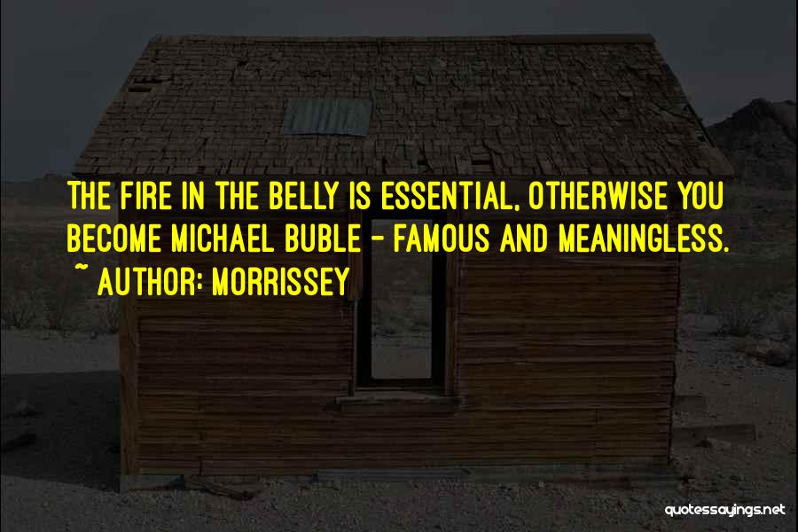Fire In My Belly Quotes By Morrissey