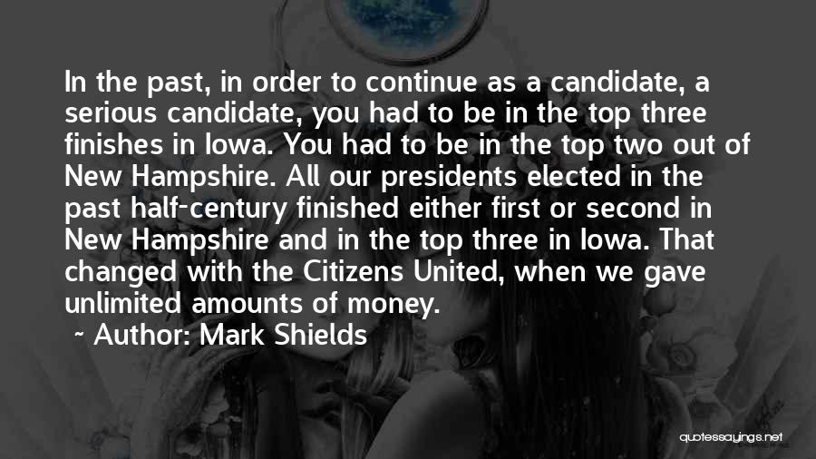 First 5 Presidents Quotes By Mark Shields
