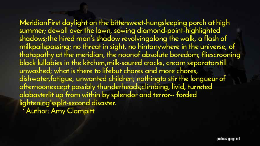First And Second Quotes By Amy Clampitt