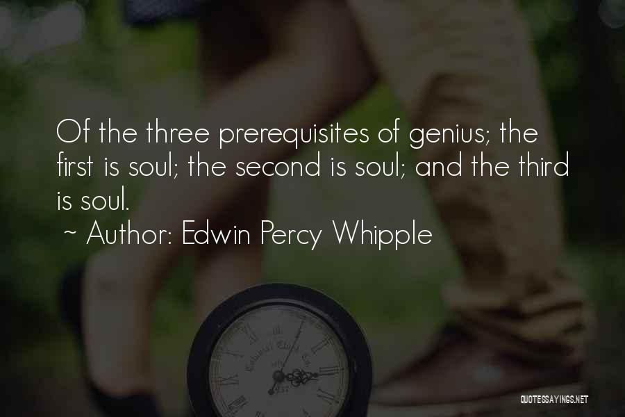 First And Second Quotes By Edwin Percy Whipple