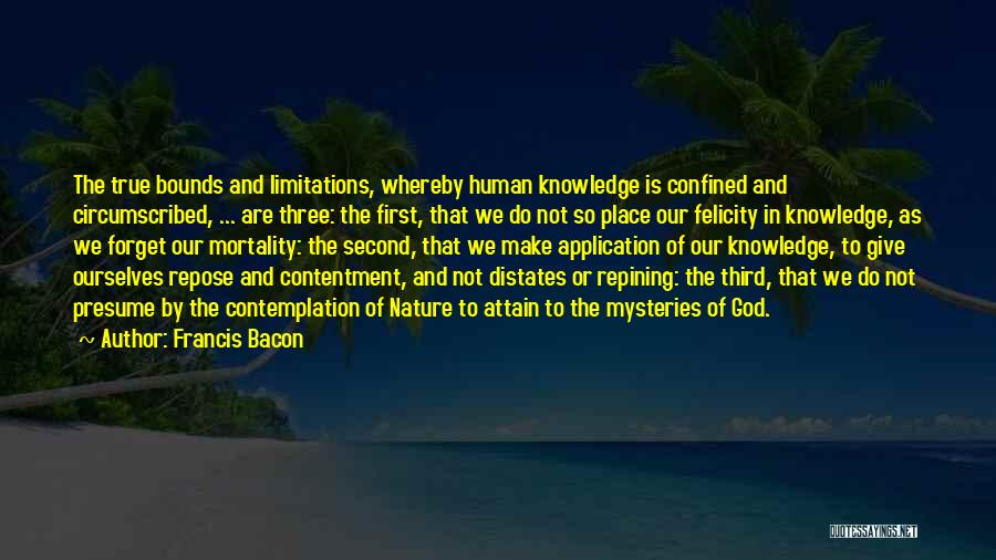 First And Second Quotes By Francis Bacon