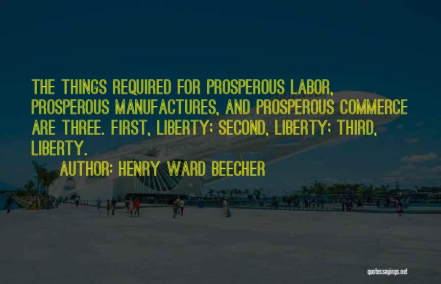 First And Second Quotes By Henry Ward Beecher