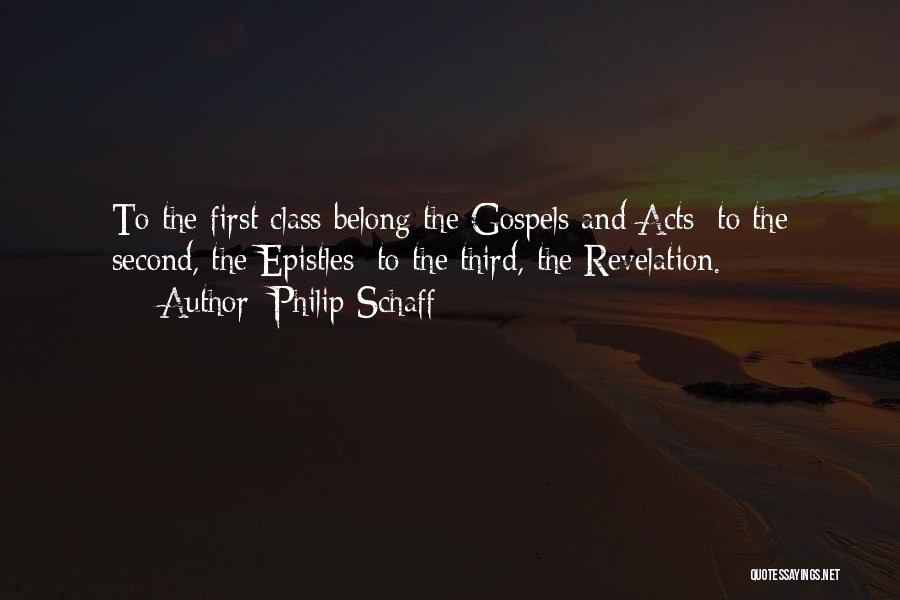 First And Second Quotes By Philip Schaff