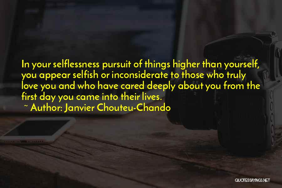 First Day Of Quotes By Janvier Chouteu-Chando