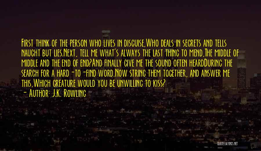 First Kiss Last Kiss Quotes By J.K. Rowling