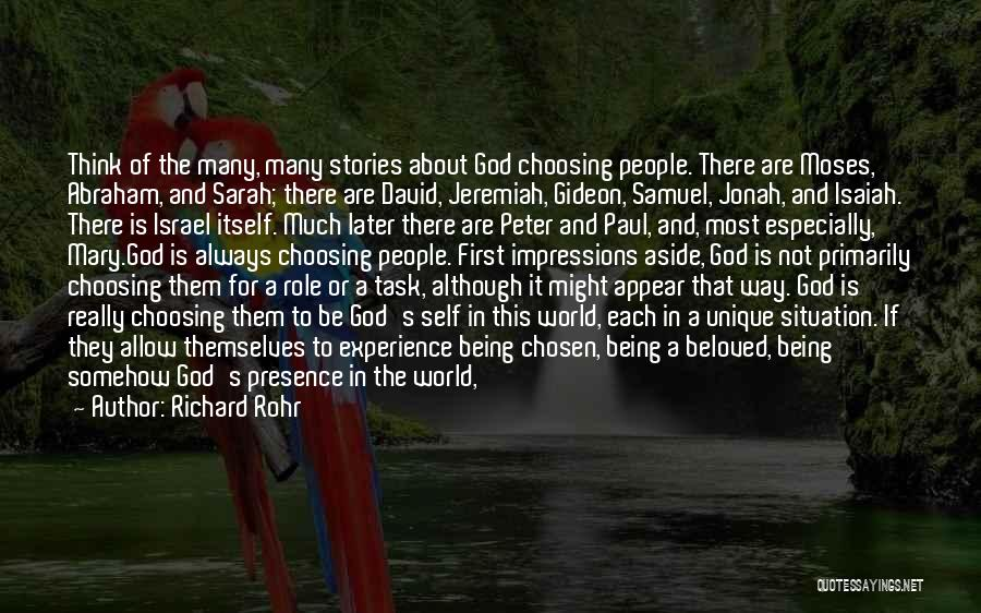 First Love Impressions Quotes By Richard Rohr