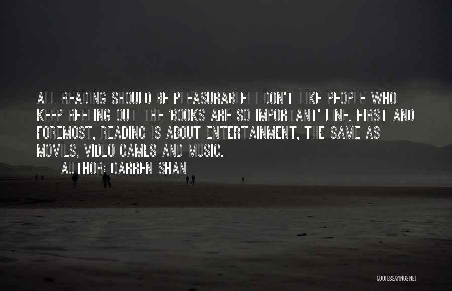 First Music Video Quotes By Darren Shan