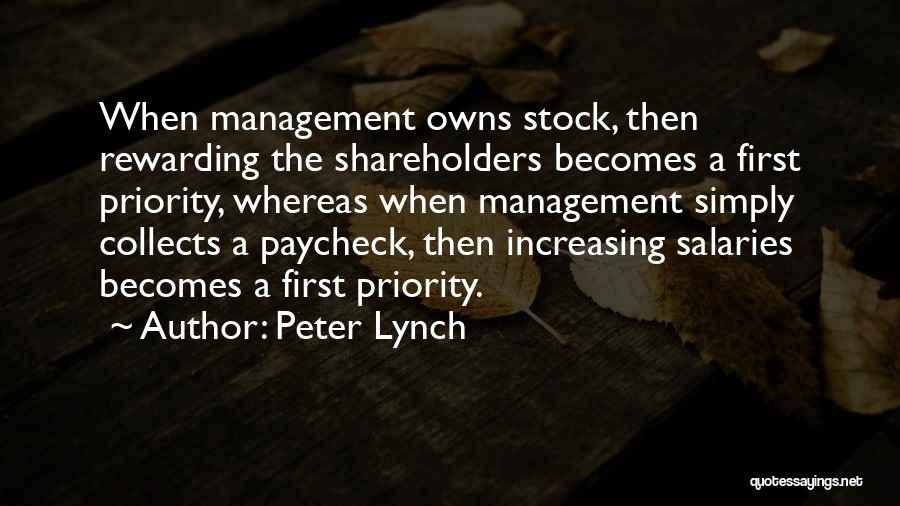 First Paycheck Quotes By Peter Lynch