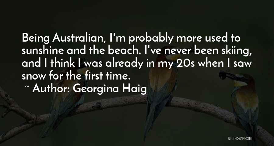 First Snow Quotes By Georgina Haig
