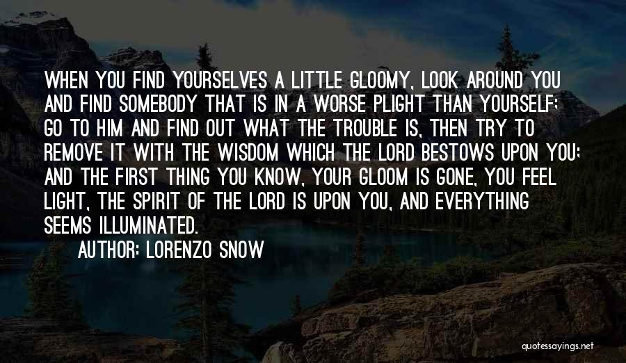 First Snow Quotes By Lorenzo Snow