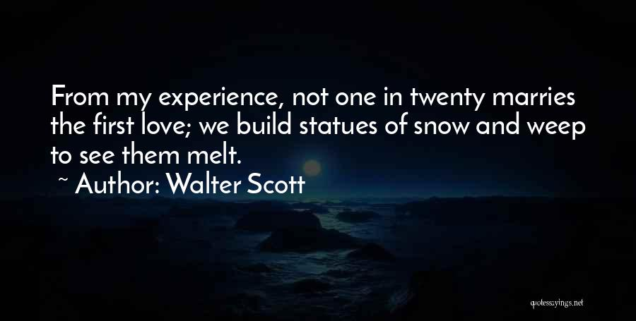 First Snow Quotes By Walter Scott