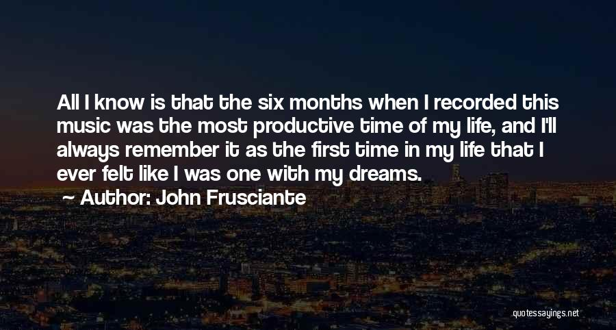 First Time In My Life Quotes By John Frusciante