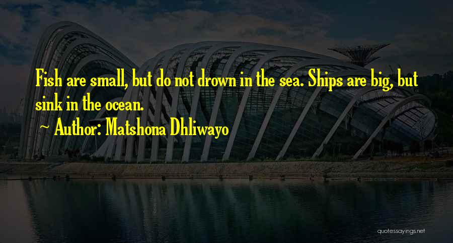 Fish In The Ocean Quotes By Matshona Dhliwayo