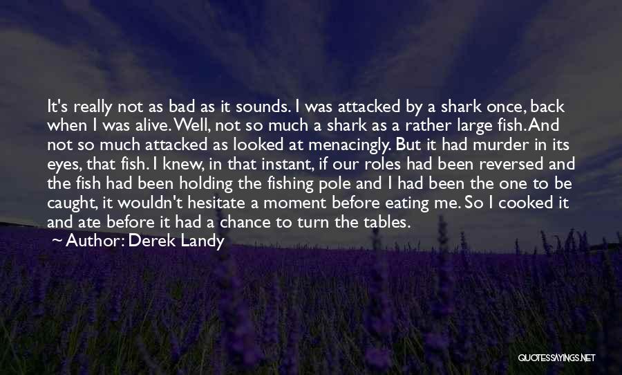 Fishing Pole Quotes By Derek Landy