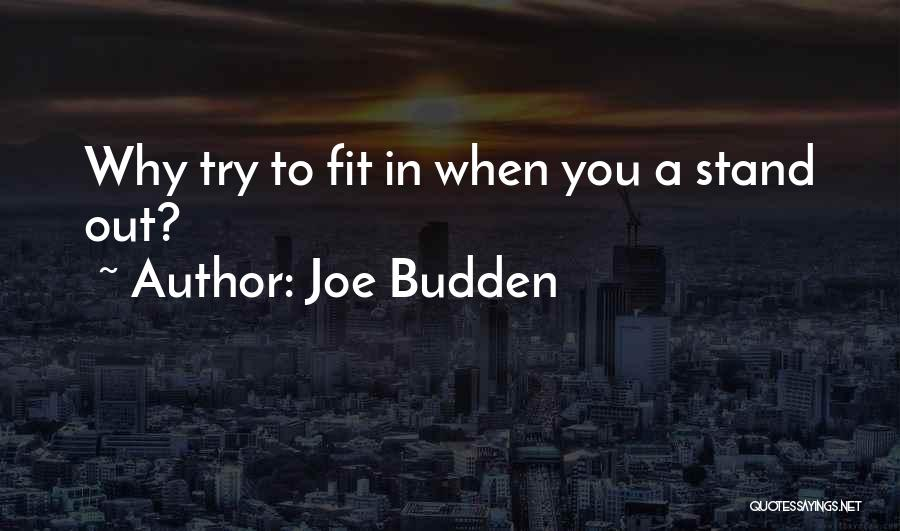 Fit In Stand Out Quotes By Joe Budden