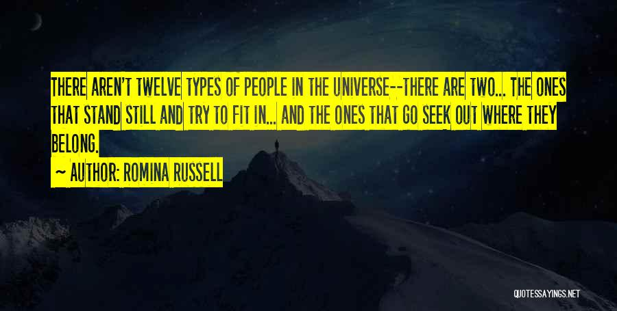 Fit In Stand Out Quotes By Romina Russell