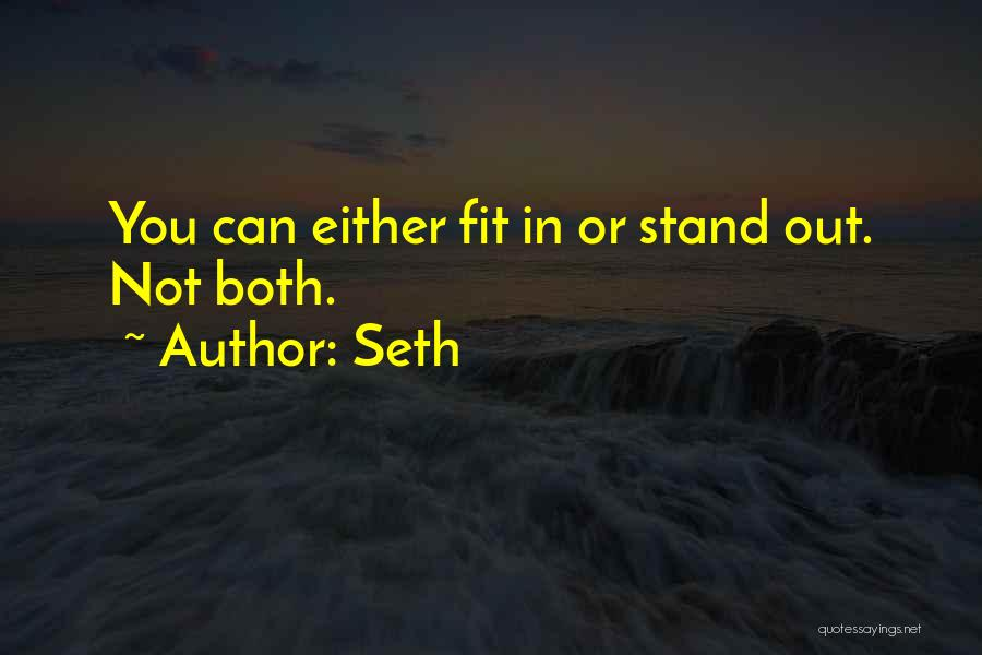 Fit In Stand Out Quotes By Seth
