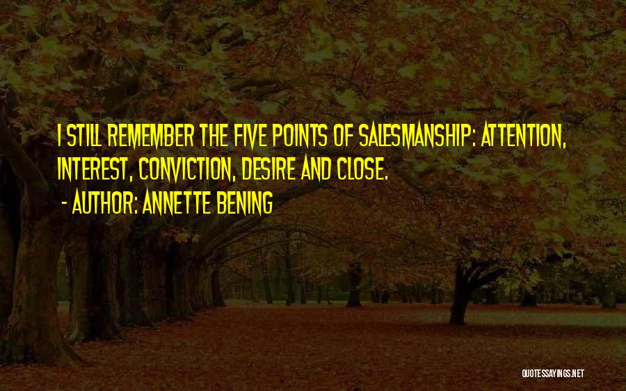 Five Points Quotes By Annette Bening