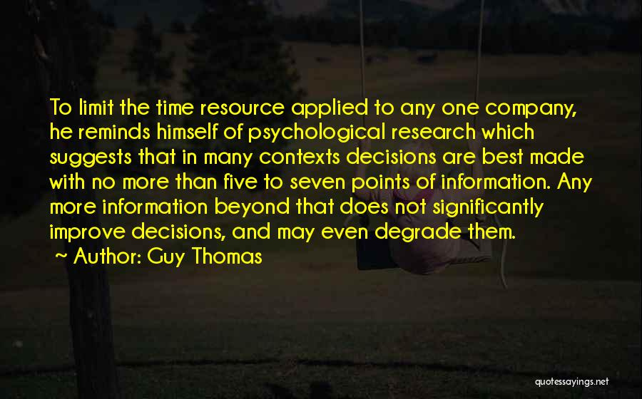 Five Points Quotes By Guy Thomas
