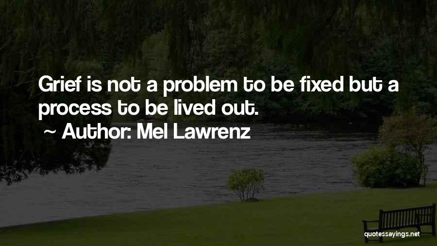 Fixed Problem Quotes By Mel Lawrenz