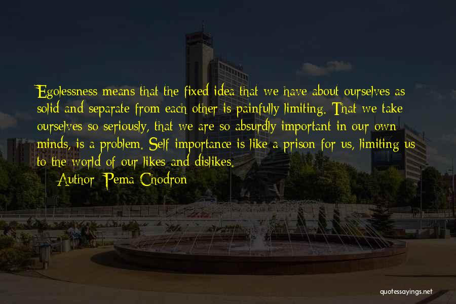 Fixed Problem Quotes By Pema Chodron