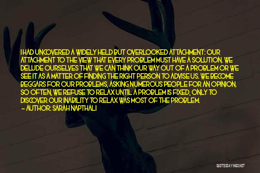 Fixed Problem Quotes By Sarah Napthali