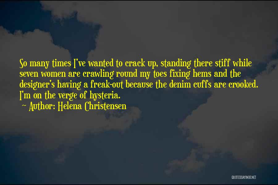Fixing Someone Quotes By Helena Christensen