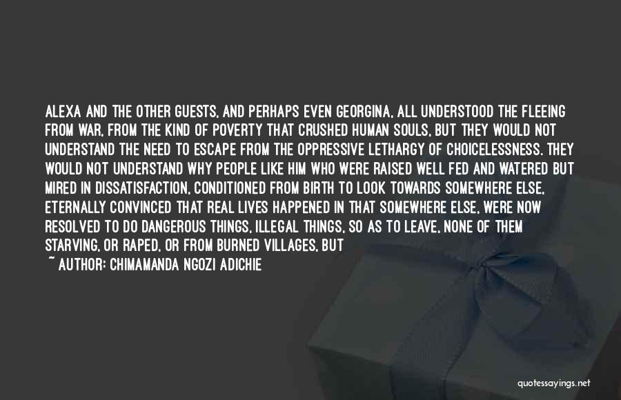 Fleeing War Quotes By Chimamanda Ngozi Adichie