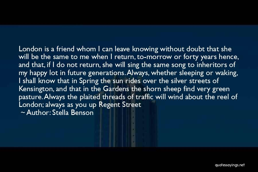 Fleet Street Quotes By Stella Benson