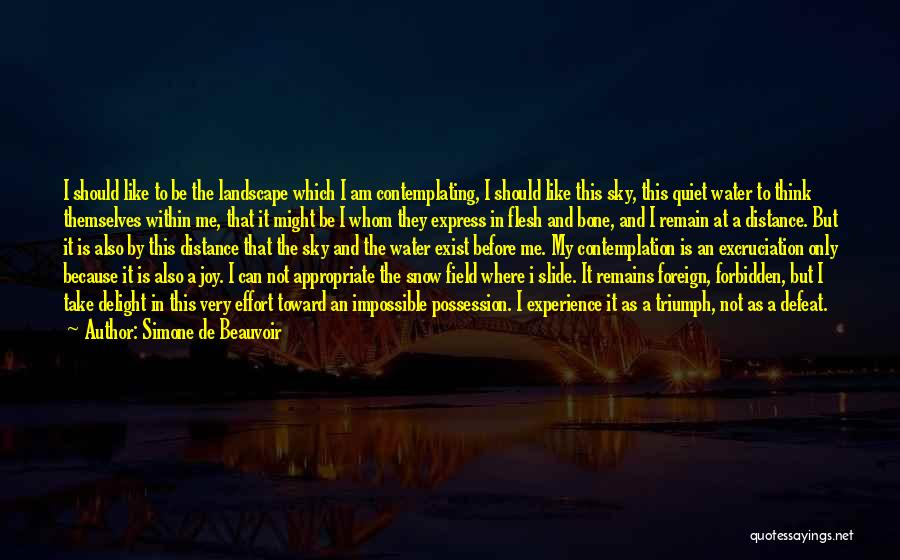 Flesh And Bone Quotes By Simone De Beauvoir
