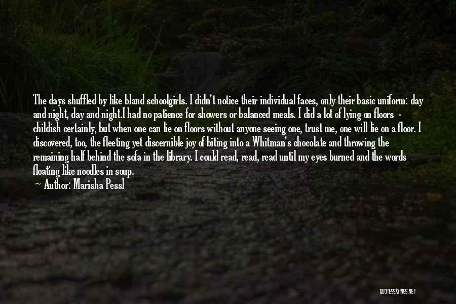 Floating Floor Quotes By Marisha Pessl