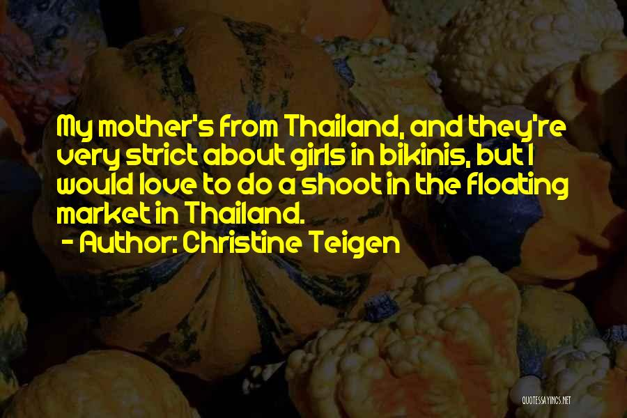 Floating Market Quotes By Christine Teigen