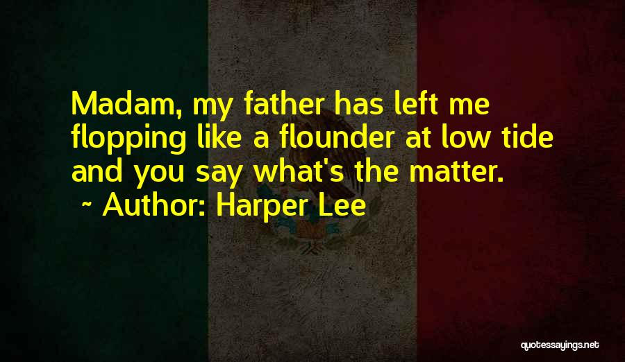 Flounder Quotes By Harper Lee