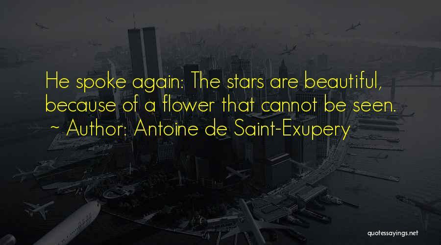 Flower Beautiful Quotes By Antoine De Saint-Exupery