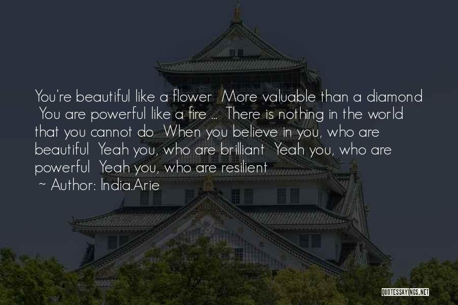 Flower Beautiful Quotes By India.Arie