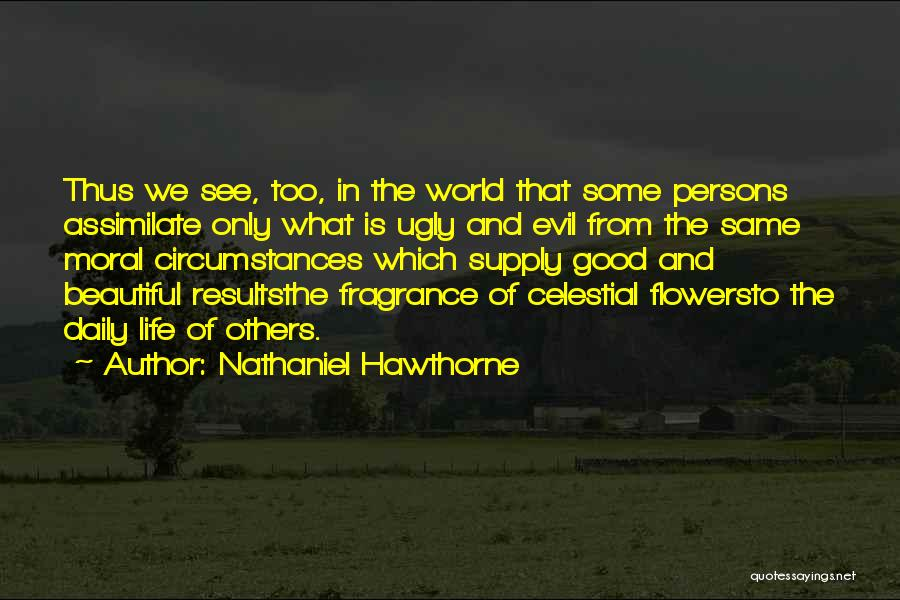 Flower Beautiful Quotes By Nathaniel Hawthorne