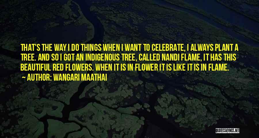 Flower Beautiful Quotes By Wangari Maathai