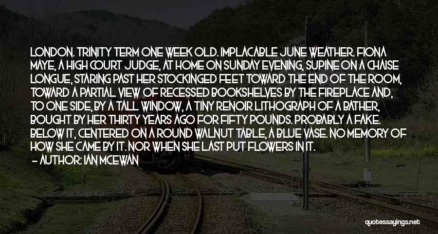 Flowers And Raindrops Quotes By Ian McEwan