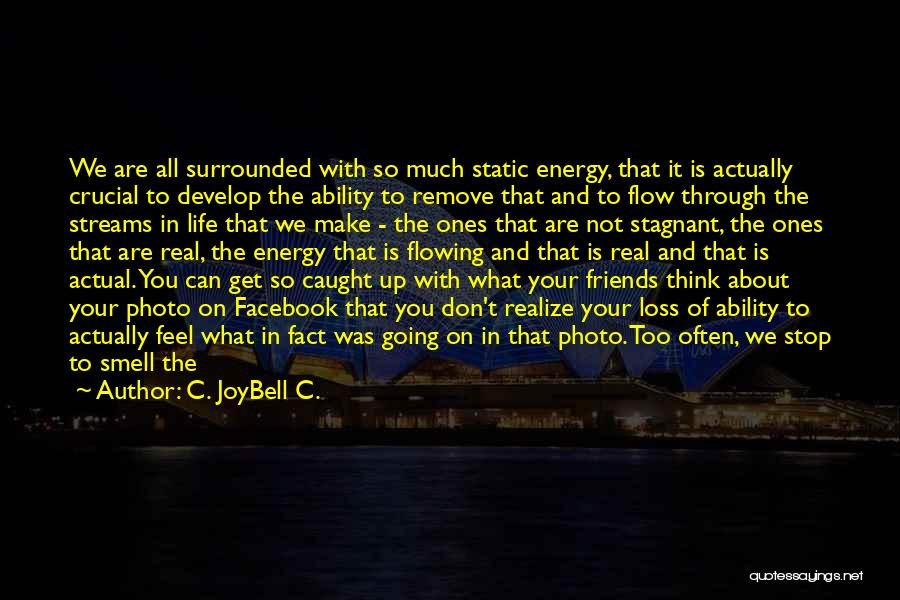 Flowing With Life Quotes By C. JoyBell C.