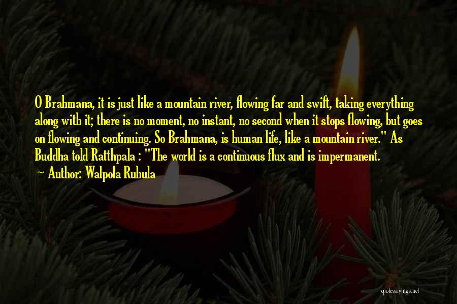 Flowing With Life Quotes By Walpola Ruhula