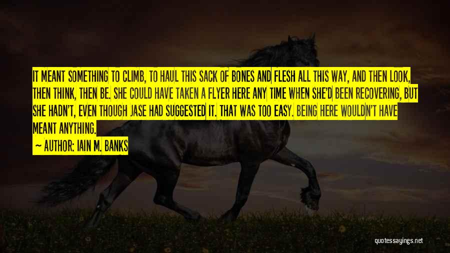 Flyer Quotes By Iain M. Banks
