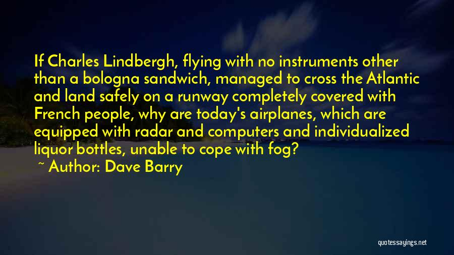 Flying Airplane Quotes By Dave Barry