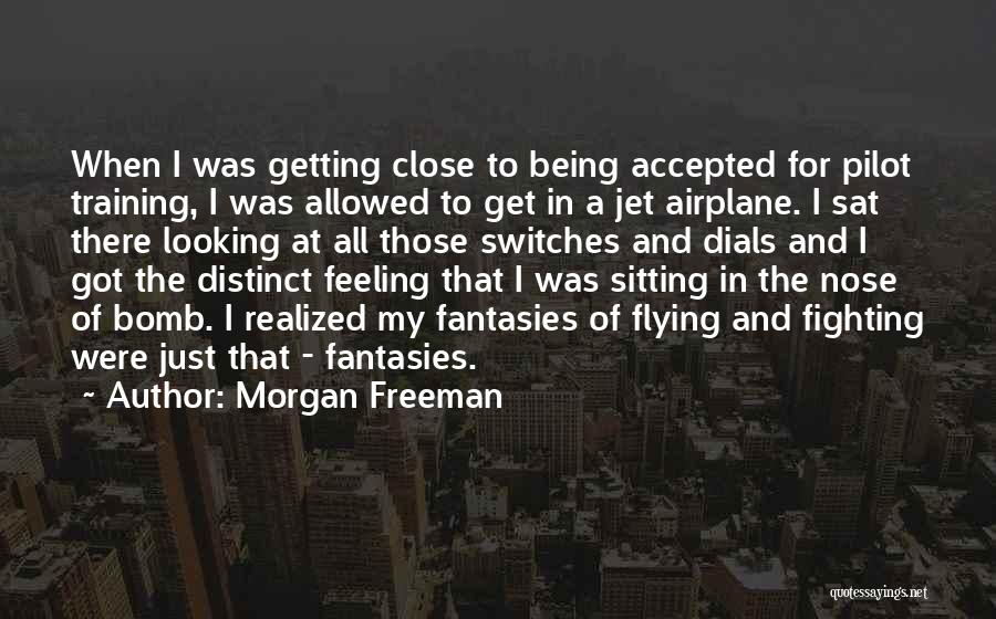 Flying Airplane Quotes By Morgan Freeman