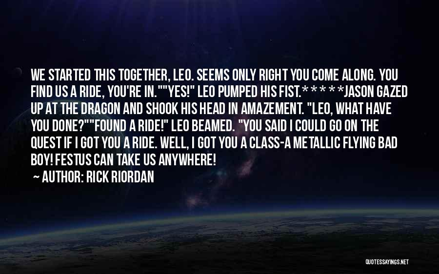 Flying Together Quotes By Rick Riordan